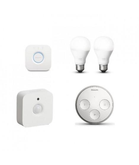 PHILIPS Hue Pack lumiere connectée avec 2 ampoules E27 60 W - Interrupteur Tap et Sensor + 10? d'offre de remboursement
