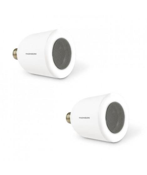 THOMSON Lot de 2 ampoules LED connectées E27 5 W équivalent a 50W avec enceinte bluetooth