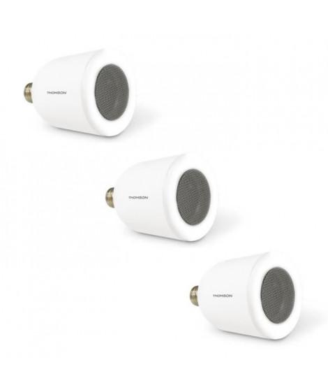 THOMSON Lot de 3 ampoules LED connectées E27 5 W équivalent a 50W avec enceinte bluetooth