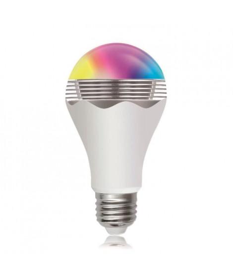 Ampoule LED musicale bluetooth E27 7 W couleur RGB et blanc