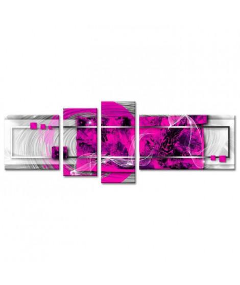 MANGA Tableau multi panneaux abstrait 160x60 cm violet