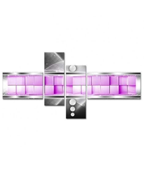 CUBO Tableau multi panneaux 130x65 cm violet