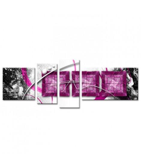 WAX Tableau multi panneaux 160x60 cm violet abstrait