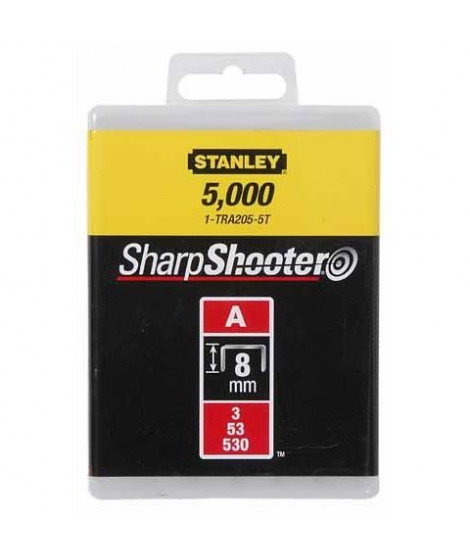 STANLEY - Agrafes 8mm type - 1000pcs