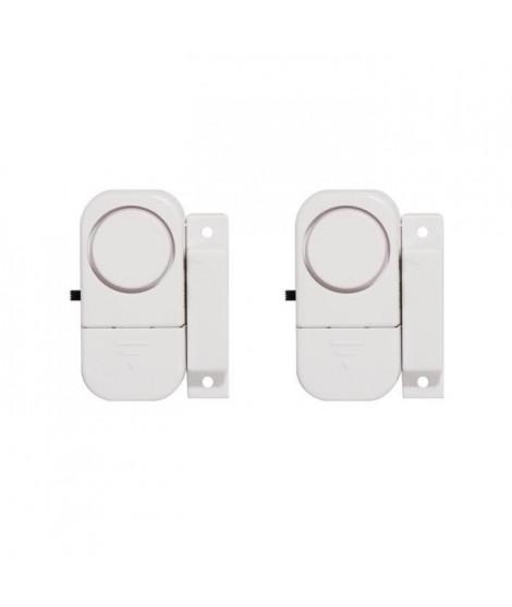 CHACON Lot de 2 mini-alarmes détecteurs d'ouverture et avertisseur d'entrée