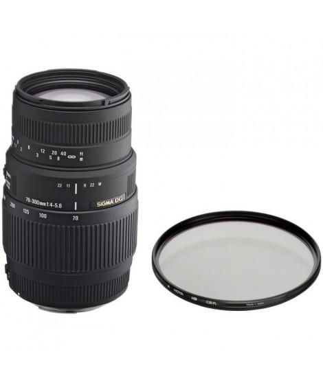 Pack SIGMA 70-300mm F4-5.6 DG Macro CANON + Filtre HD