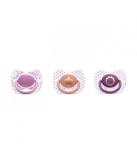 SUAVINEX Lot de 3 Sucettes Couture Silicone +4 mois Mixte