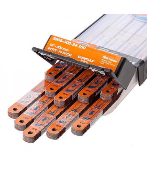 """BAHCO Pack de 100 lames de scie a métaux 12"""" 300mm Sandlex HSS Bi-métal 3906-300-24-100"""