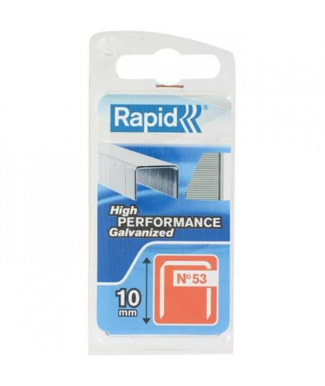 RAPID Agrafes galvanisées - Fil fin - N°53/10 mm