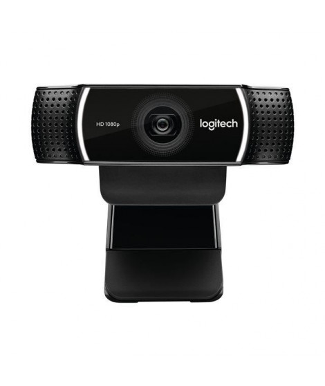 LOGITECH Webcam C922 Pro Stream - Diffusion Full HD 1080p - Idéale Twitch et YouTube - Trépied inclus