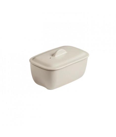 PYREX Terrine rectangulaire 17 xX 10 - Céramique - Creme