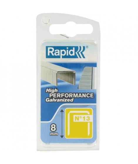 RAPID Agrafes galvanisées - Fil fin - N°13/08 mm