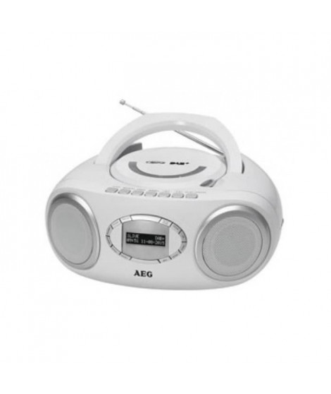 AEG SR 4370WH DAB Boombox Dab+ / CD / USB - Blanc