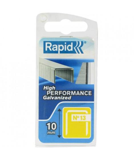 RAPID Agrafes galvanisées - Fil fin - N°13/10 mm