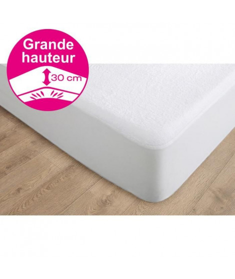 CANDIDO PENALBA Protege matelas Alcomeria Pur Essential 140x190 cm blanc