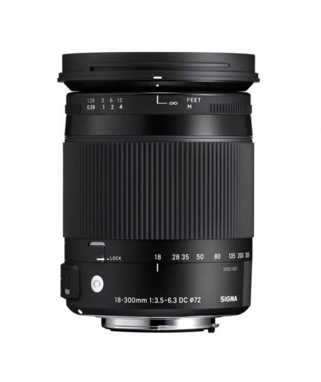 SIGMA 18-300mm F3.5-6.3 DC MACRO HSM OS Contemporary pour CANON - Objectif pour Reflex
