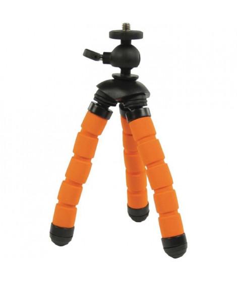 CAMLINK CL-TP240 Trépied Flexible 13 cm 0.5 kg - Noir et Orange