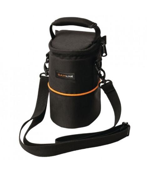 CAMLINK CL-OB10 Sac pour Objectif 90 x 150 x 70 mm - Noir/Orange