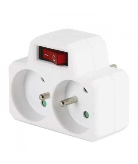 COGEX Fiche biplite 2x16A avec interrupteur
