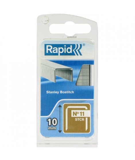 RAPID Agrafes galvanisées - Fil plat - N°11 STCR/10 mm