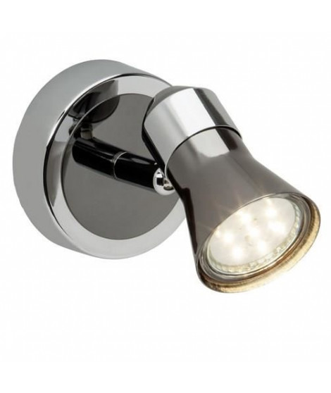 BRILLANT Spot patere LED 3W chromé et noir
