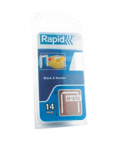 RAPID Agrafes DP galvanisées - Fil plat - N°970/14 mm