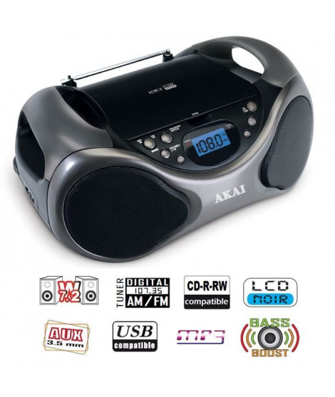 AKAI AB-40K Scorpio Lecteur CD portable USB MP3