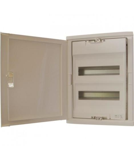 LEGRAND Coffret électrique encastré avec porte isolante galbée 2 rangées 24+4 modules blanc RAL 9010