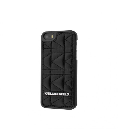KARL LAGERFELD COQUE KUILTED NOIRE POUR APPLE IPHONE 5/5S