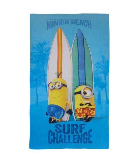 LES MINIONS SURF Drap de plage Coton 70x120cm