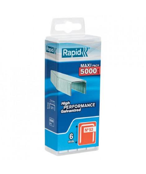Agrafe n°53 Rapid Agraf - Dim.6 mm - 5000 agrafes