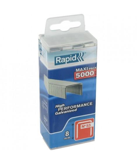 Agrafe n°53 Rapid Agraf - Dim.8 mm - 5000 agrafes