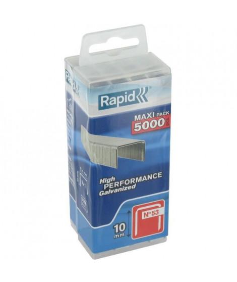 Agrafe n°53 Rapid Agraf - Dim.10mm - 5000 agrafes