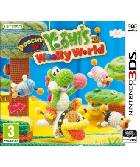 Poochy & Yoshi's Woolly World Jeu 3DS