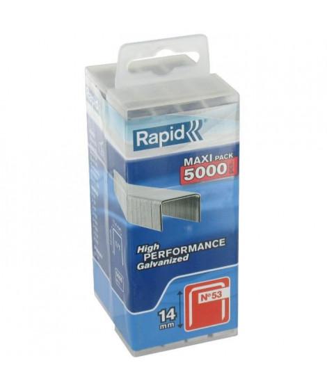 Agrafe n°53 Rapid Agraf - Dim.14mm - 5000 agrafes