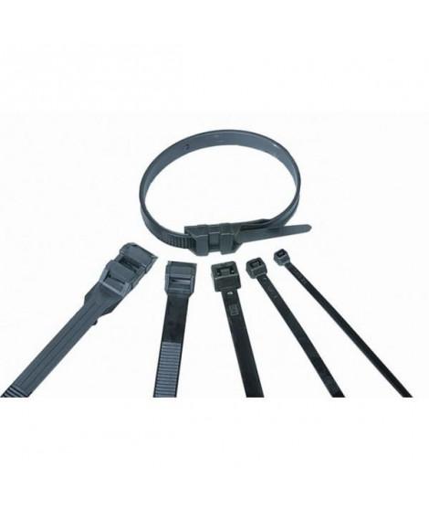 VOLTMAN Lot de 100 colliers de fixation Nylon - 180 x 6,8  mm - Noir