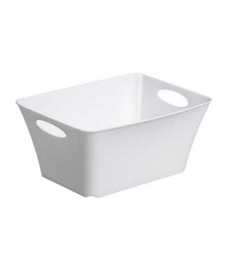 SUNDIS Corbeille panier Living Box XS 5L 29,5x21,6x13,5 cm blanc