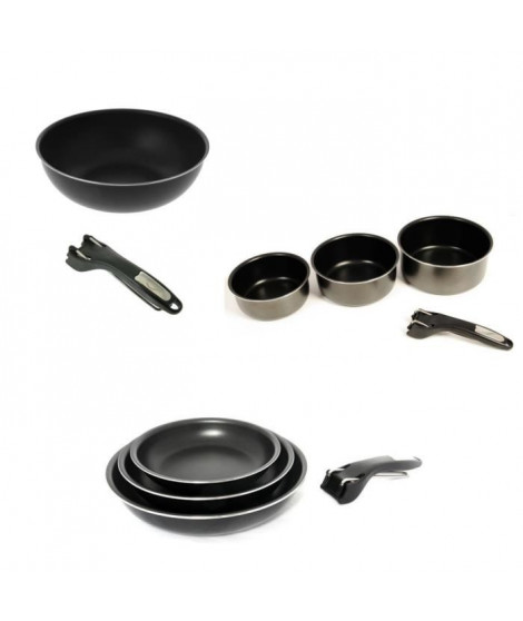 SITRAM Batterie de cuisine 10 pieces INDUCTION