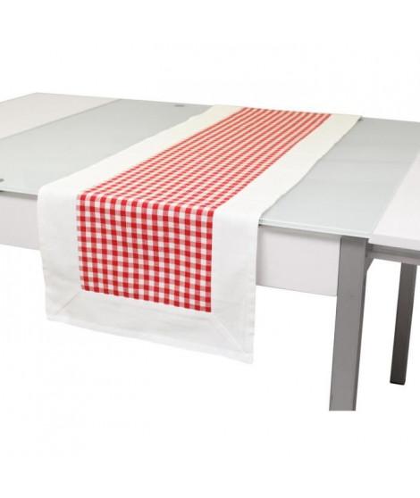 SOLEIL D'OCRE Chemin de table Vichy 40x140 cm rouge