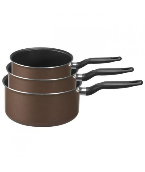 TEFAL Set de 3 casseroles Extra 14/18/20 cm brownie
