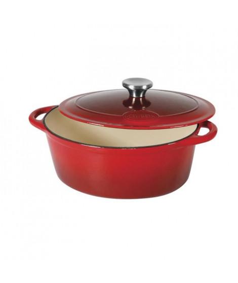 SITRAM Cocotte Sitrabella en fonte 9 L blanc et rouge Ø 20 cm