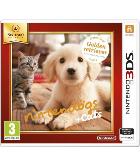 Nintendogs + Cats Golden Jeux Selects 3DS