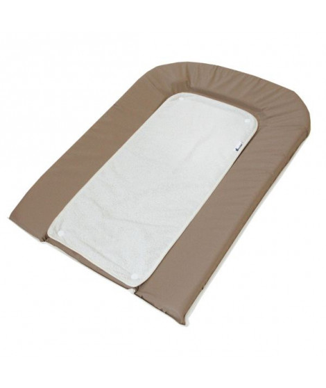 CANDIDE Matelas a Langer Taupe + 2 Eponges