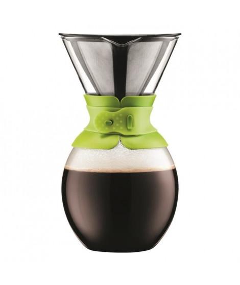 BODUM Cafetiere filtre POUR OVER en titanium doré 1,5L vert