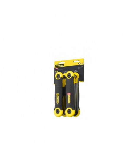 """STANLEY 2 jeux de 17 clés pliables - 1,5 a 8mm et 5 / 64"""" - 1 / 4"""""""