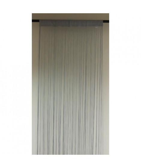 Voilage Argent Etamine Impression Ivoire 140x240cm