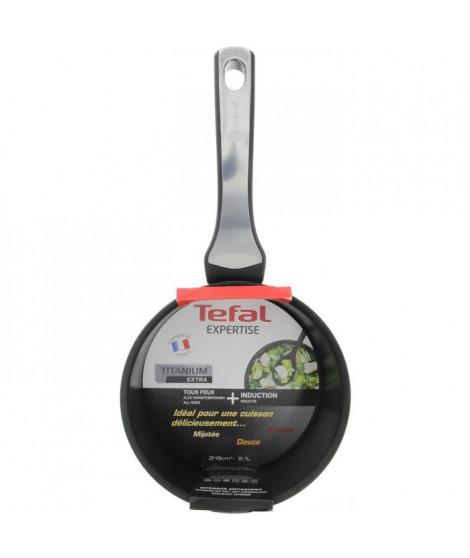 TEFAL Casserole + livre de recettes téléchargeable Expertise GV5 18 cm noir