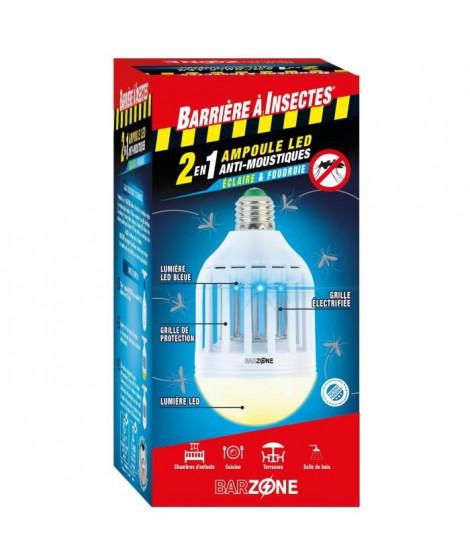 BARRIERE A INSECTES Etui 1 Ampoule LED Barzone anti-moustiques 2-en-1