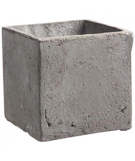 MICA DECORATIONS Lot de 2 Pots carrés Jimmy - Gris