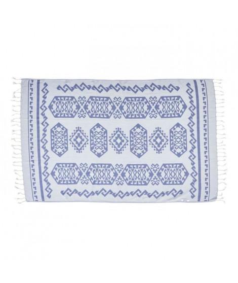DONE Serviette Hammam Caya - Jeans - 90x180cm - 100% Coton - 230gr/m²